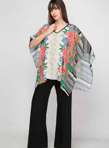 Φόρμα ολόσωμη jersey floral