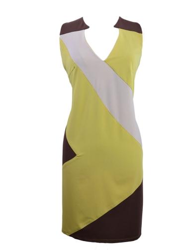 Φόρεμα τρίχρωμο ελαστικό