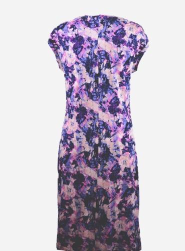 Φόρεμα βισκόζ με σούρα