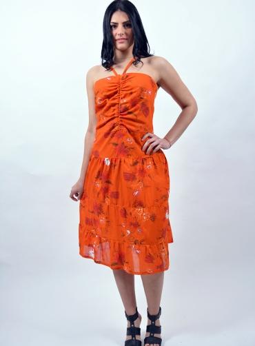 Φόρεμα βισκόζ φλοράλ τιράντες