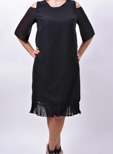 Φόρεμα μουσελίνα πλισέ