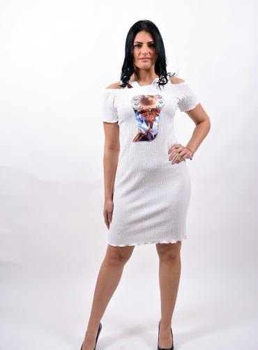 Φόρεμα ελαστικό ριγέ μοτίφ