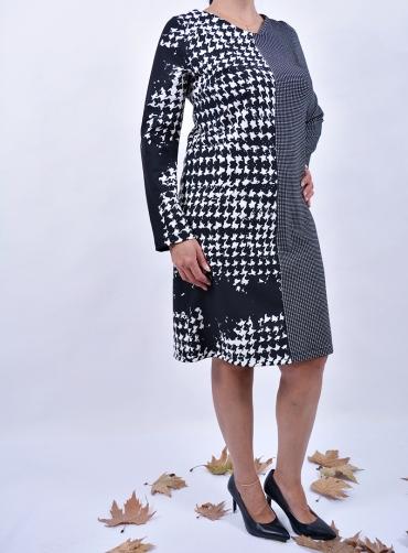 Φόρεμα ελαστικό δίχρωμο