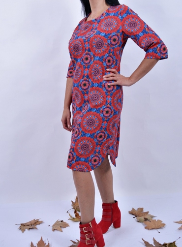 Φόρεμα ελαστικό print πολύχρωμο