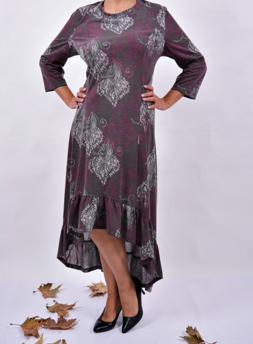 Φόρεμα ασύμμετρο βισκόζ