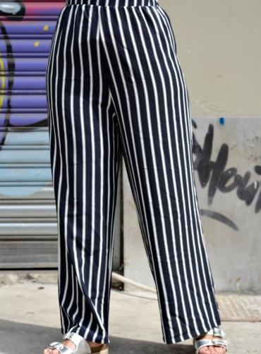 Παντελόνα ριγέ μπλέ