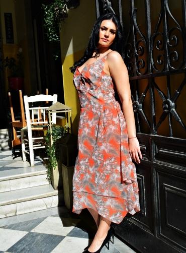 Φόρεμα μουσελίνα print