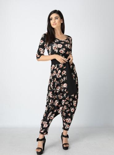 Φόρμα ελαστική βισκόζ floral
