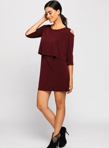 Φόρεμα ελαστικό άνοιγμα στους ώμους