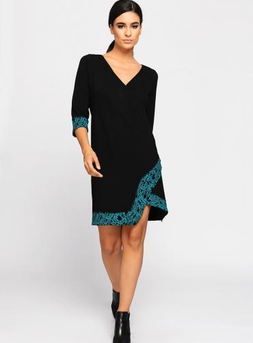 Φόρεμα ελαστικό πικέ με δανδέλα