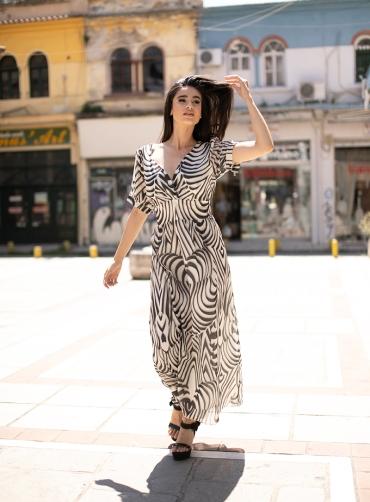 Φόρεμα maxi zebra print