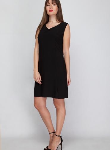 Φόρεμα jersey ελαστικό μαύρο