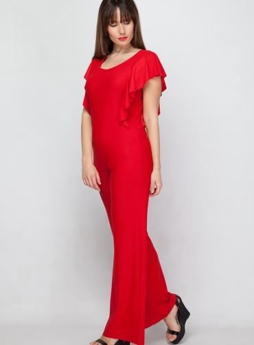 Φόρμα ολόσωμη βολάν κόκκινη