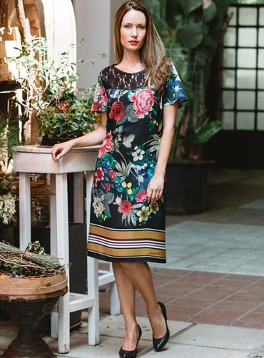Φόρεμα floral κρέπ